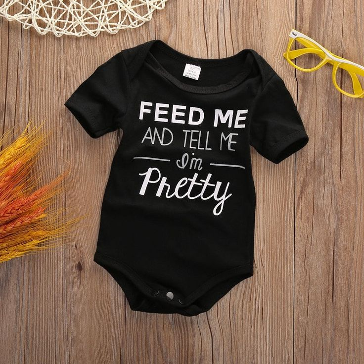 Feed Me And Tell Me I'm Pretty Baby Bodysuit