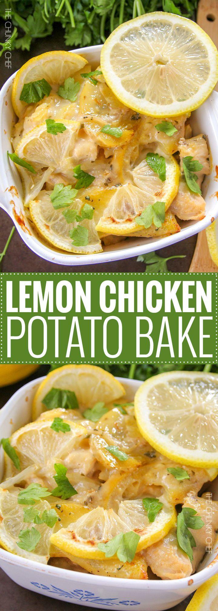 Lemon Chicken And Potato Bake