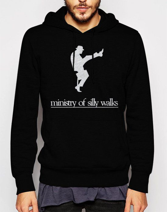 Gift+for+Men+MONTY+PYTHON+MINISTRY+OF+FUNNY+WALKS+Black+Hoodie
