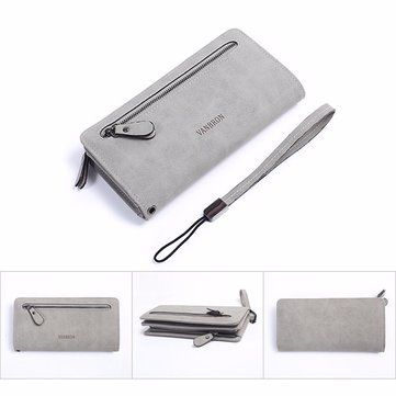 Women Zipper Long Wallet Retro Card Holder Clutches Bags Coin Bags 5.5'' Phone P - US$17.75