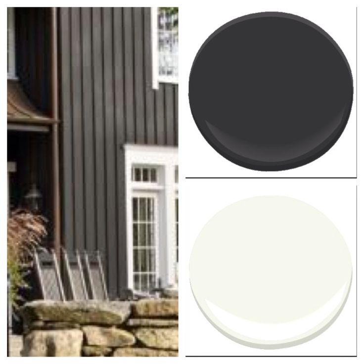 Paint Colors: benjamin moore onyx and cotton balls
