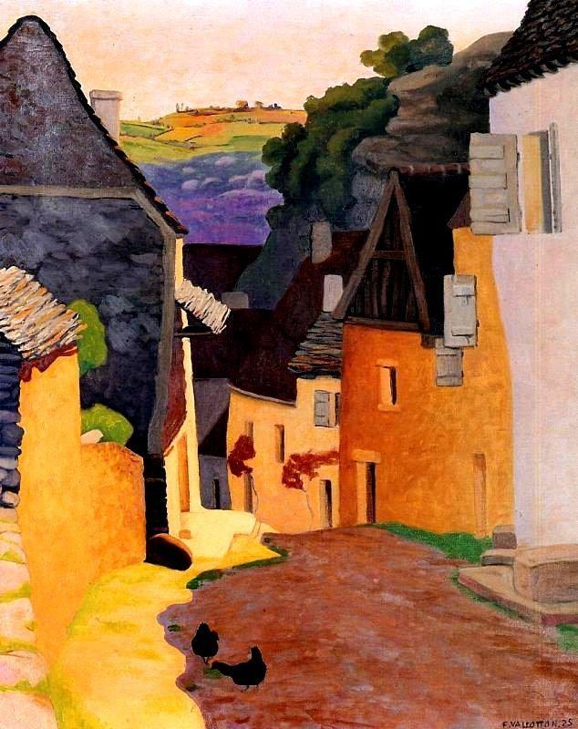 'Rocamadour Landscape' - Félix Vallotton  (1865-1925)