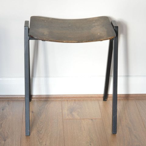 Vintage wood and metal stool. £30, www.oatesandco.com.