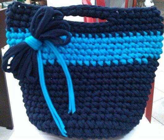bolso Trapillo azul mar