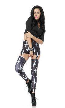 Een mooi aansluitende print legging.
