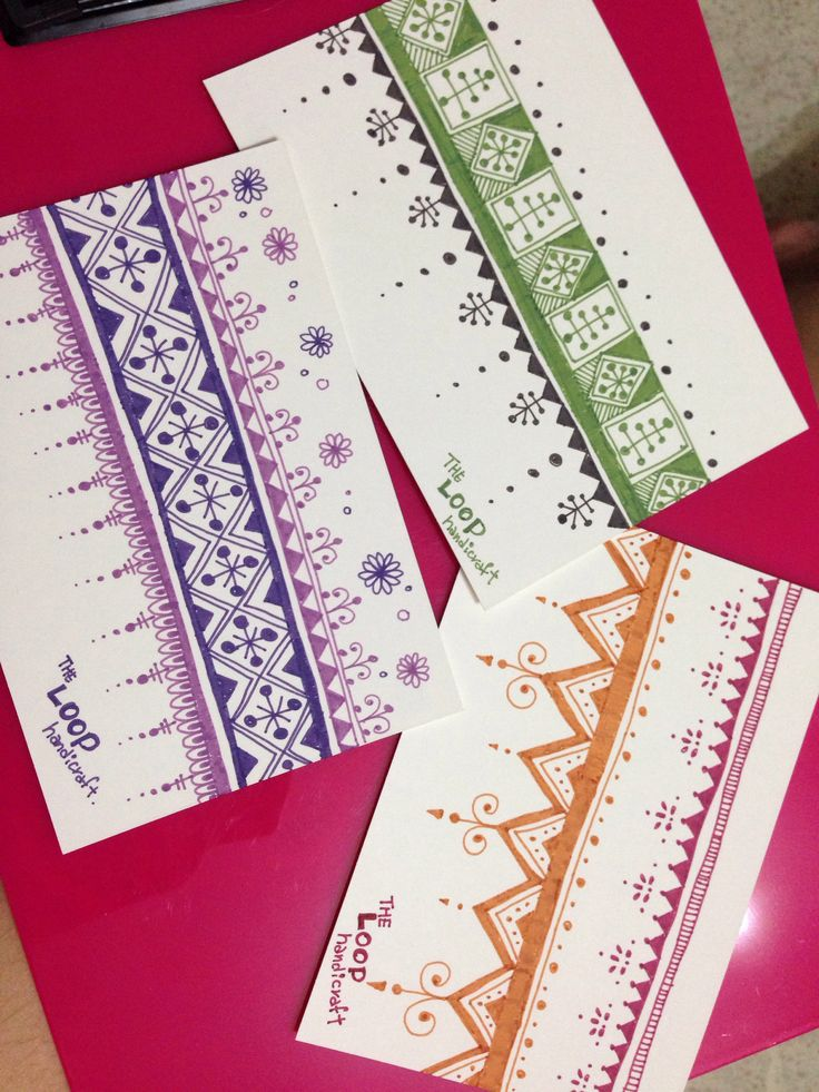 I love morocco style #zentangle #doodle #postcard #diy