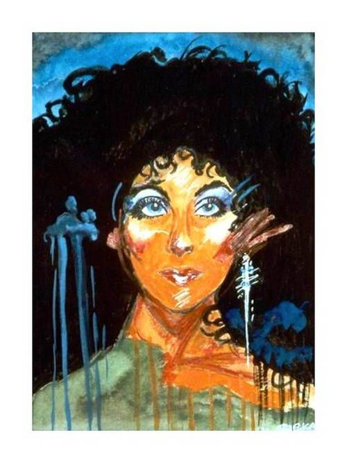Cher-watercolor print from my art
