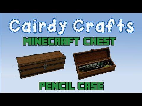 Diy minecraft pencil case