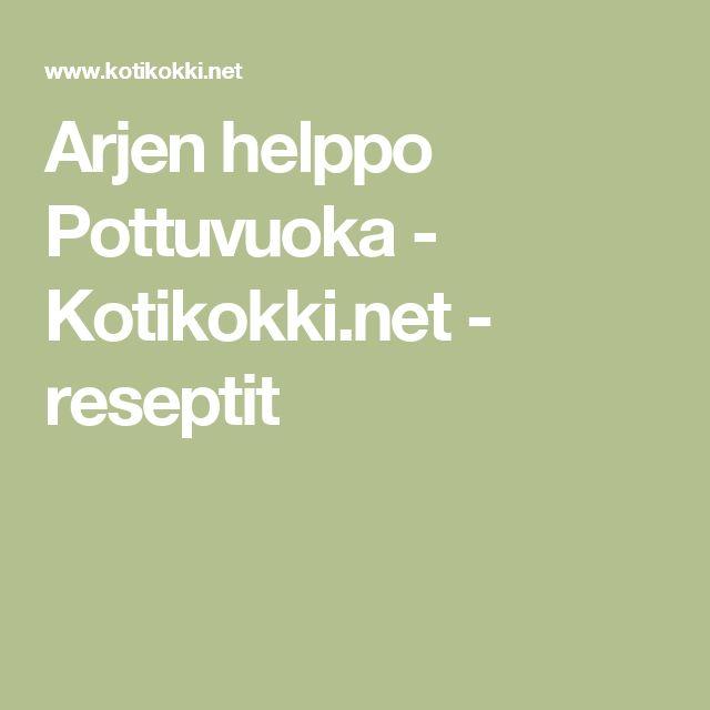 Arjen helppo Pottuvuoka - Kotikokki.net - reseptit