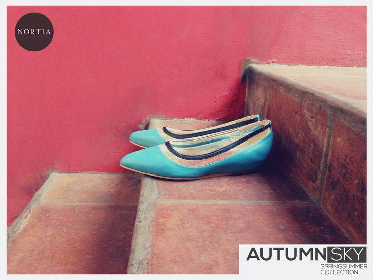 Nortia Flirty Autumn Sky visit www.nortia.shoes #leathershoes #street #fashion #vintage #autumn