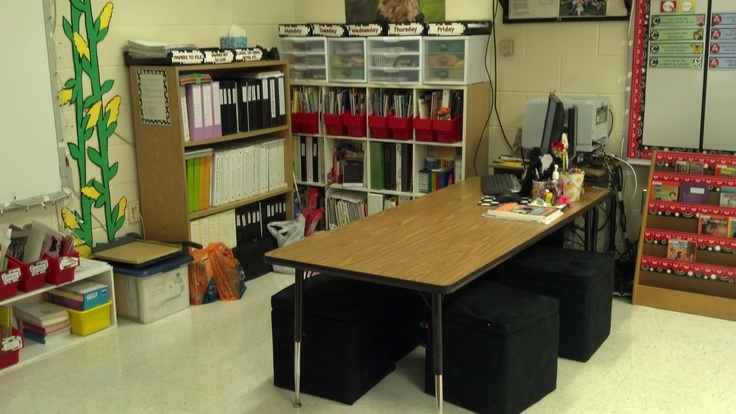 How to create a small group area by getting rid of the teacher's desk.