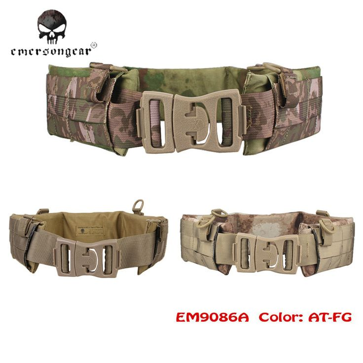 Emerson Molle Airsoft Tactical Waist Padded Belt Functional Patrol Belt with Soft Pad Nylon Cummerbunds For Outdoor Sports
