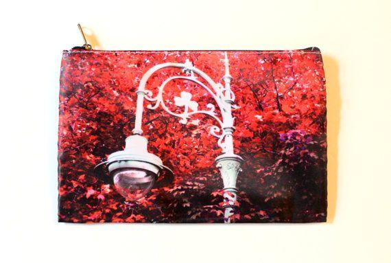 Pencil Case/Makeup Bag Red Magenta Pink 5x8 by CandyMountainPhotos, €10.00
