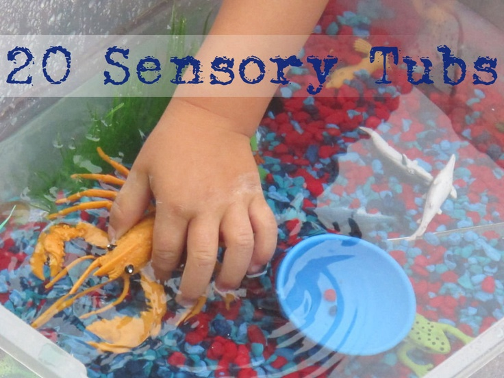 20 Sensory Tubs for All Seasons!Sensory Tubs, Sensory Play, Tubs Ideas