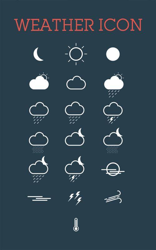 Weather Icon Set #freepsdfiles #photoshoppsd #uikits #psdtemplates #vectorgraphics #psdbackgrounds