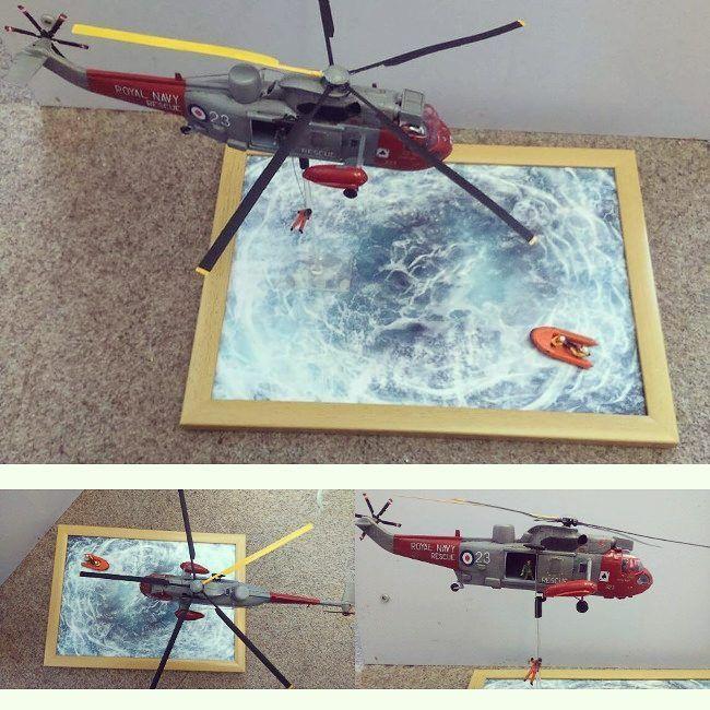 "1,333 Likes, 5 Comments - Usina dos Kits (@usinadoskits) on Instagram: ""Incredible!!! Sea King Air Sea Rescue 1/72 Airfix diorama. Modeler Stephen Freeman #scalemodel…"""