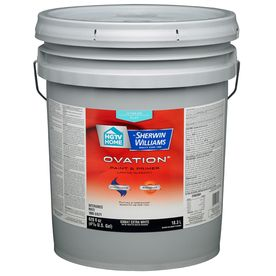 HGTV HOME by Sherwin-Williams Ovation White Eggshell Latex Interior Paint and Primer In One (Actual Net Contents: 620-fl oz)