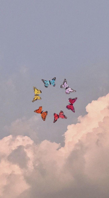 Butterflies Aesthetic Butterfly Wallpaper Butterfly Wallpaper Iphone Iphone Wallpaper Vintage