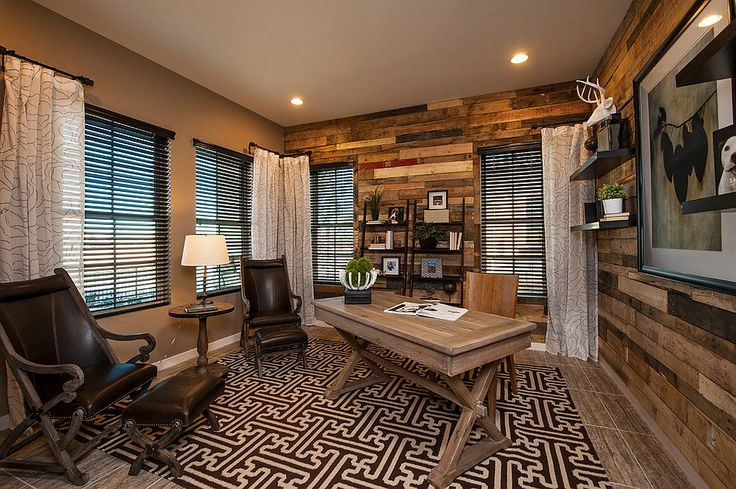 Reclaimed wood adds elegance and warmth to the contemporary home office 25 Ingenious Ways to Bring Reclaimed Wood into Your Home Office