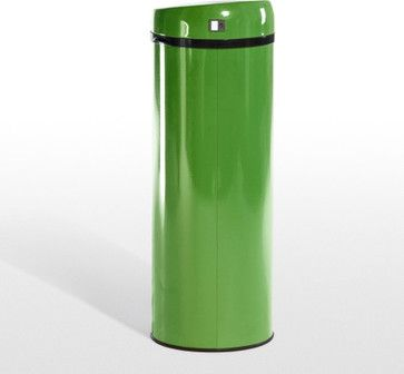 Sensé Touch-Free Bin, Green - contemporary - kitchen trash cans - Made