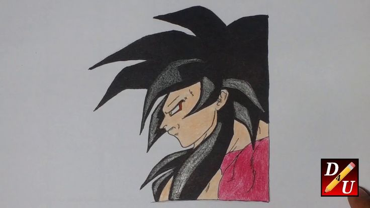 How To Draw SUPER SAIYAN 4  GOKU Cara Menggambar SUPER SAIYAN 4 GOKU  كي...