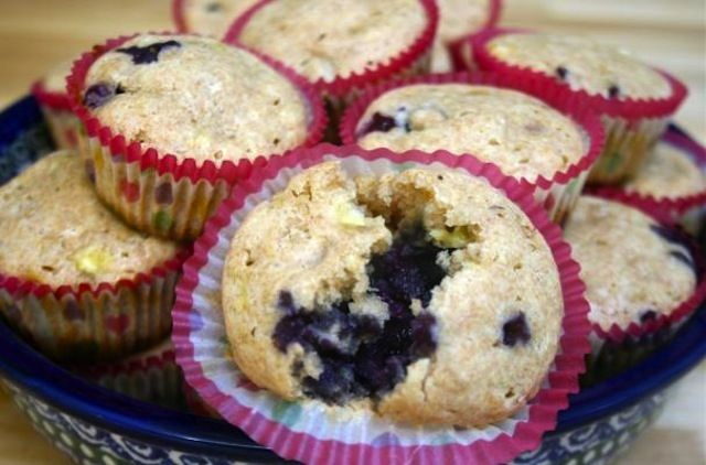 whole wheat blueberry banana muffins. This easy quick bread is moist ...