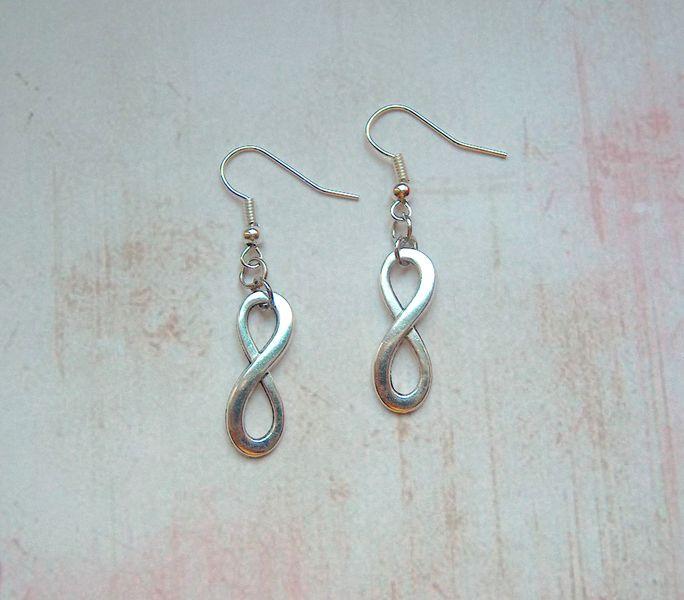 Ohrringe Infinity Unendlichkeit silber von MiMaKaefer auf DaWanda.com