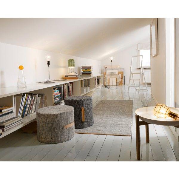 Design House Stockholm Björk kruk large. Zacht en makkelijk te verplaatsen! #DesignHouseStockholm #kruk #design #Flinders