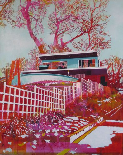 Awesome color....paul davies: Midcentury Modern, Dreams Houses, Modern Architecture, Vibrant Colors, Colors Palettes, Beverly Hill, Modern Home, Painting, Exterior Home