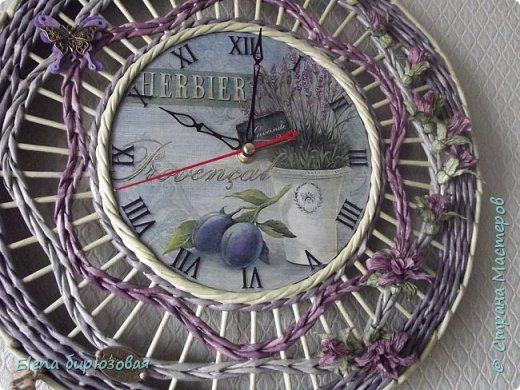Декор предметов Интерьер Плетение Тик-так часики   Бумага газетная Трубочки бумажные фото 18