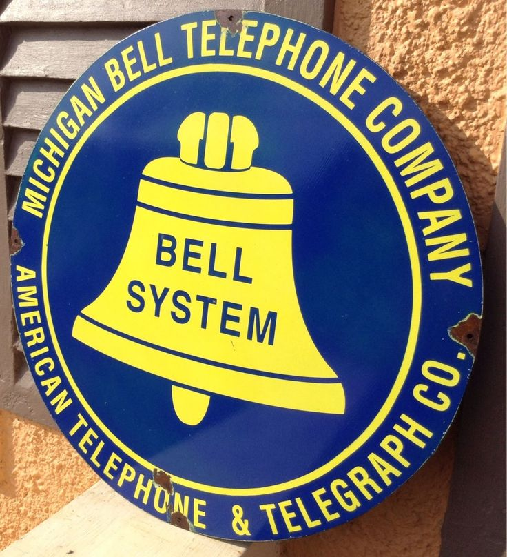 """Vintage Bell Telephone System Sign. Michigan Telegraph Telephone Sign 18"""" 