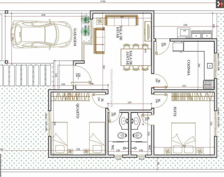 Planta baixa casa pequena planta baixa pinterest for Arquitectura casas pequenas