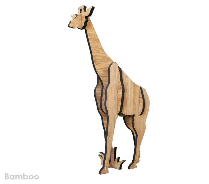 Freestanding bamboo Giraffe sculpture