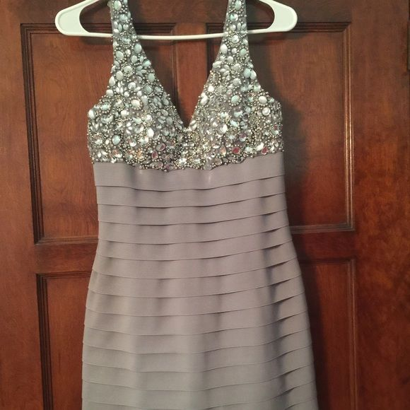 Sherri Hill Sherri hill size 8 bandage dress with jeweled top. Great condition! Only worn once. Perfect for prom! Sherri Hill Dresses Prom