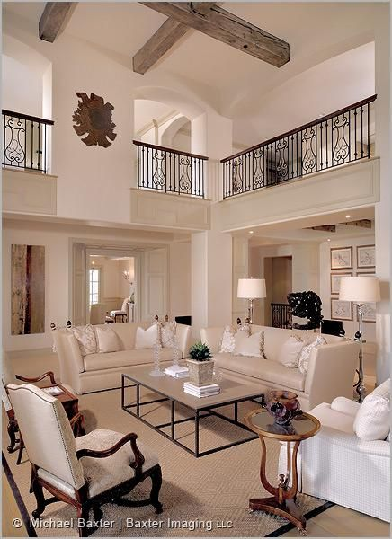Living room..love the open balcony looking over