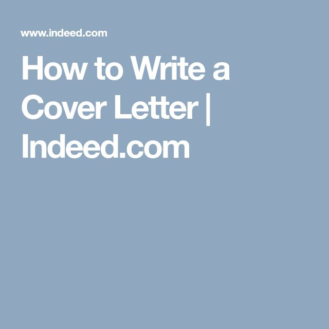 How to Write a Cover Letter | Indeed.com