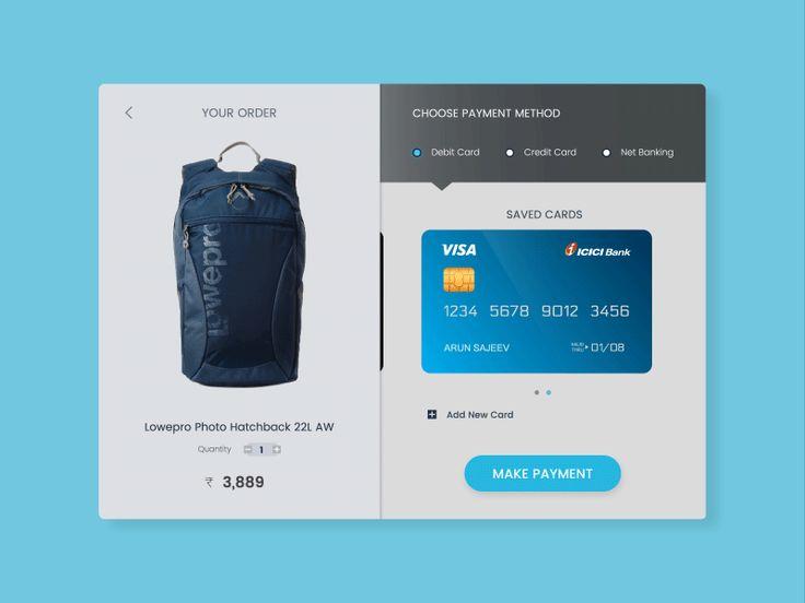 Checkout Screen User Interface Design