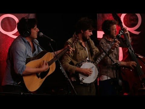 """http://www.cbc.ca/Q  British folk rockers, Mumford & Sons, are following up their platinum-selling debut record, """"Sigh No More"""" with """"Babel"""", taking things up a notch in the rock department. They joined Jian in Studio Q to perform the first single from the new record, """"I Will Wait""""."""