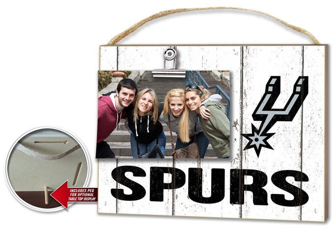 San Antonio Spurs Clip It Weathered Logo Photo Frame