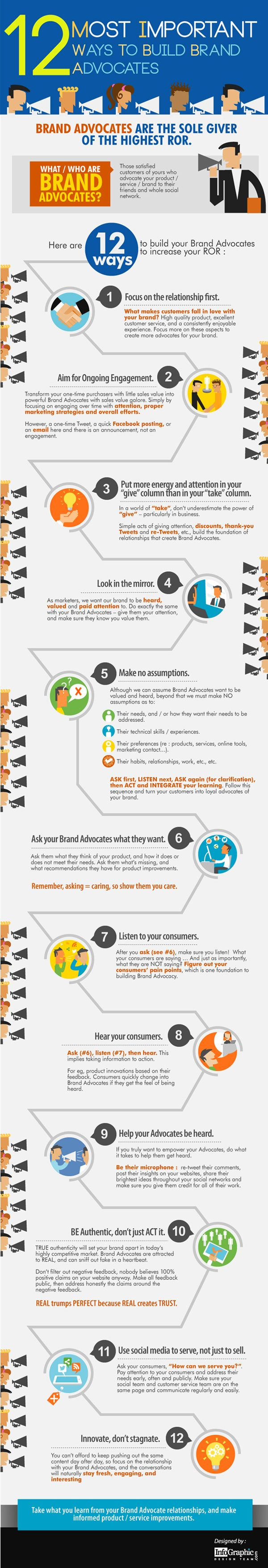 12 Ways To Build Brand Advocates