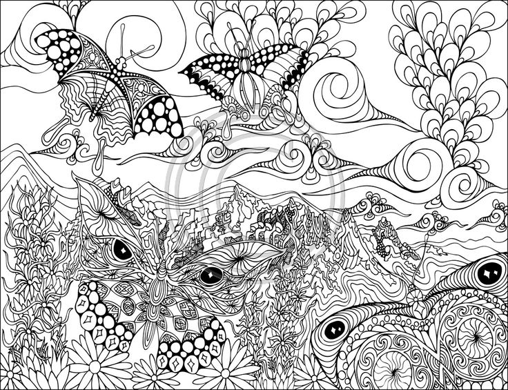 12 best Coloring pages for adults images on Pinterest | Coloring ...