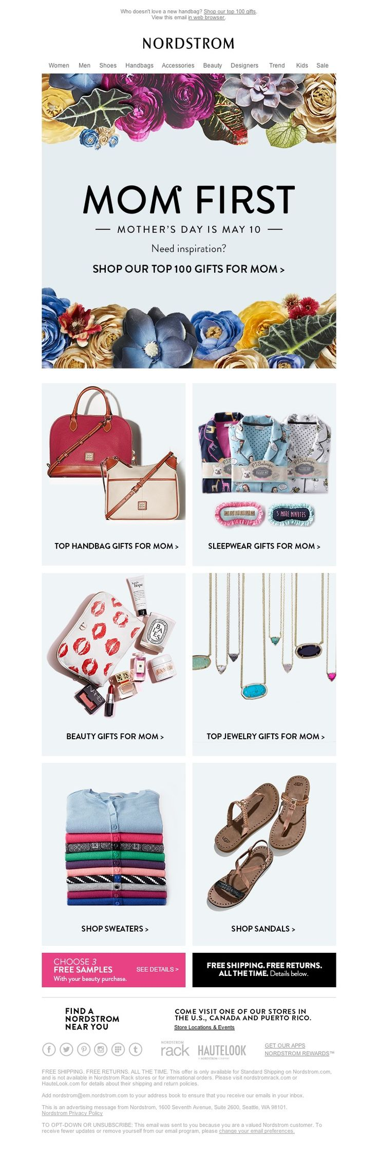 Nordstrom - Mother's Day Handbags, Sleepwear & More Top Gifts
