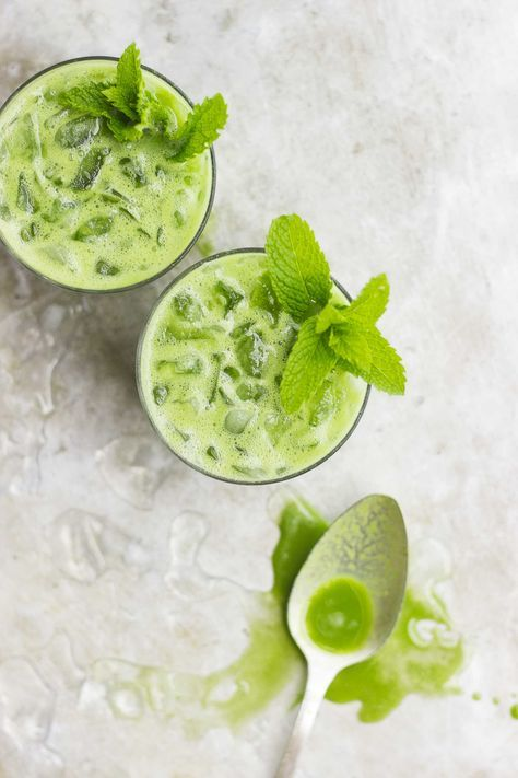 Pineapple Mint Coconut Green Drinks | @With Food + Love