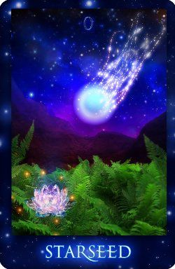 Gorgeous card from the Sirian Starseed Tarot by Patricia Cori