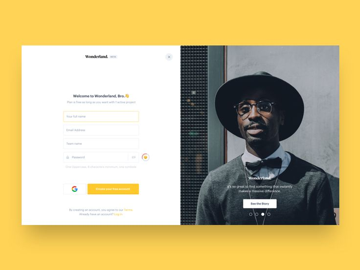 Login page concept with release notes informations on the right. -- More web works are on the way, follow us for further updates or help spread this by clicking the ❤ button. www.wonderlandindu...