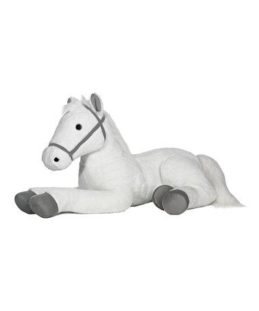 Take a look at this White & Gray Large Plush Horse by Aurora World Inc. on #zulily today!