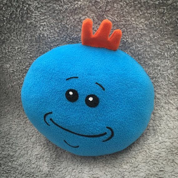 Mister Meeseeks face pillow by WeezLovesYou on Etsy