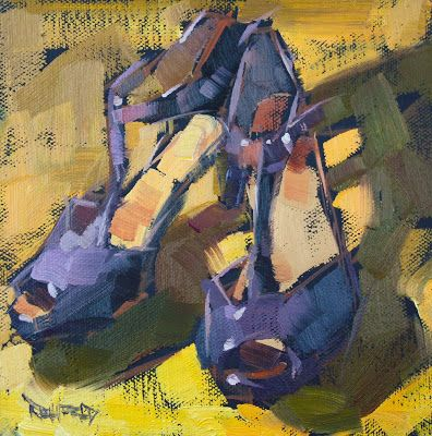 Cathleen Rehfeld O Daily Painting Complementary Color Scheme