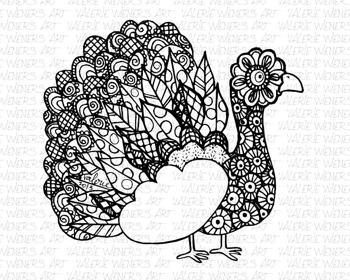Zentangle Turkey Wm Png Doodle Doo Pinterest Zentangle