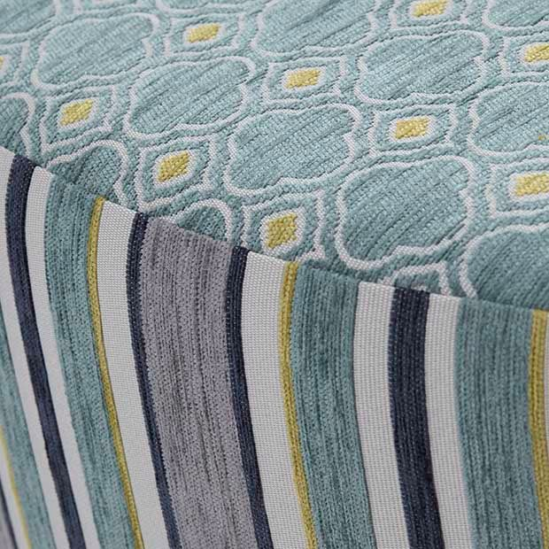 Warwick Fabrics, ABBOTSFORD Collection / Australian Made / Featured here: Allendale (stripe) and Ashby